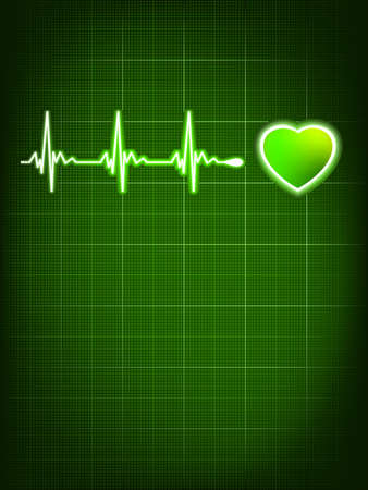 beating: Heart beating monitor  EPS 8 vector file included Illustration