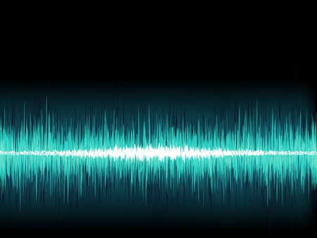 Blue sound wave on white background    EPS8 vector file