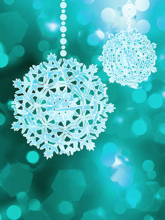 Blue snowflake over bokeh background  EPS 8 vector file included  Stock Vector - 19152066