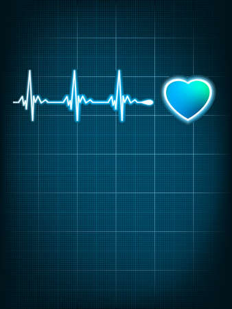 Heart beating monitor  EPS 8 vector file included Illustration