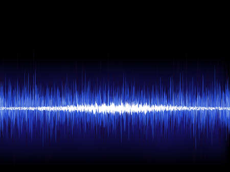 Sound waves oscillating on black background  EPS 8 vector file included Stock Vector - 19313176