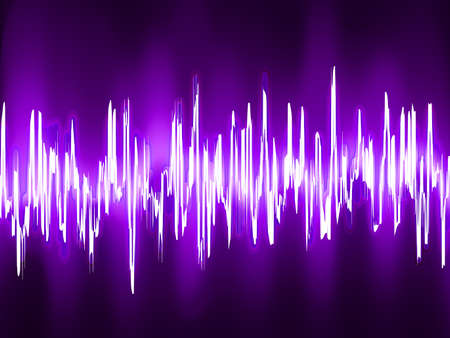 Sound waves oscillating on black background vector file included  Stock Vector - 19454749