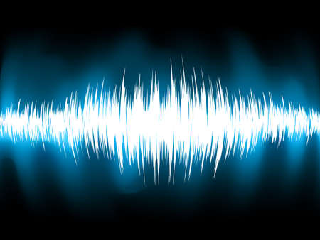 Sound waves oscillating on black background  EPS 8 vector file included Stock Vector - 19609477