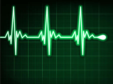 ekg: Green heart beat  Ekg graph  EPS 8 vector file included Illustration