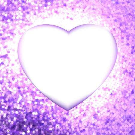 holiday celebrations: Pink frame in the shape of heart