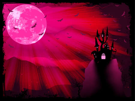 dead girl: Halloween poster with zombie background   Illustration