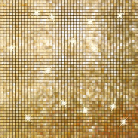 Amazing template design on gold glittering background   Vector