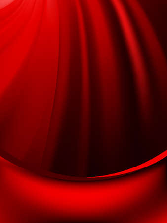 페이드: Red curtain fade to dark card