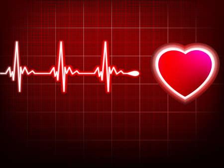 hjärtslag: Hjärta slå monitor Illustration