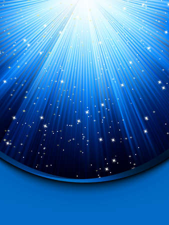 diminishing point: Abstract blue background with stars  Illustration
