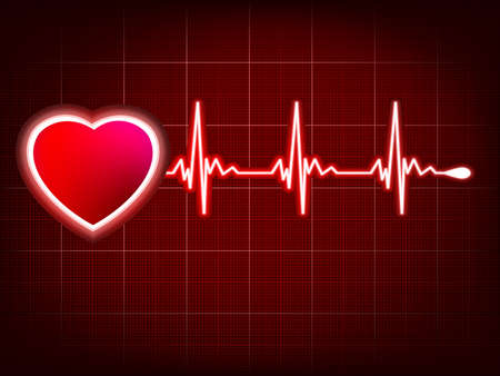 Heart and heartbeat symbol on monitor. EPS 8 vector file included Vector