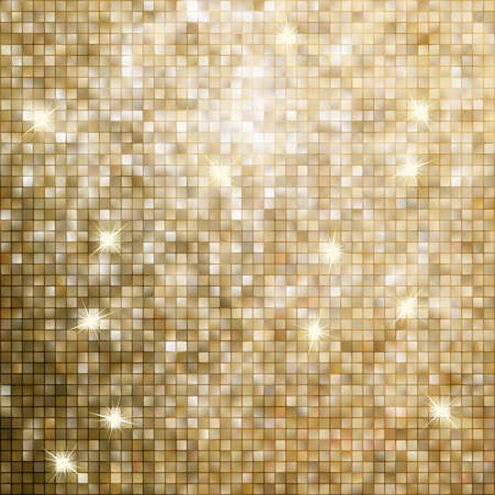 Golden abstract mosaic background. EPS 8 vector file included