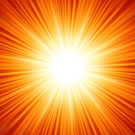 Star burst red and yellow fire. EPS 8 vector file included Vector