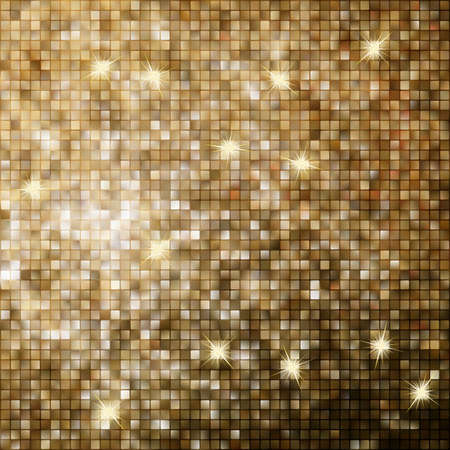 Amazing template design on gold glittering background. EPS 10 vector file included Vector