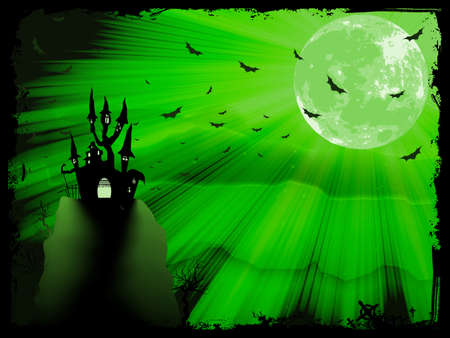 Halloween poster with zombie background. EPS 10 vector file included Vector