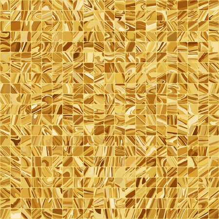 Gold mosaic background.  Vector