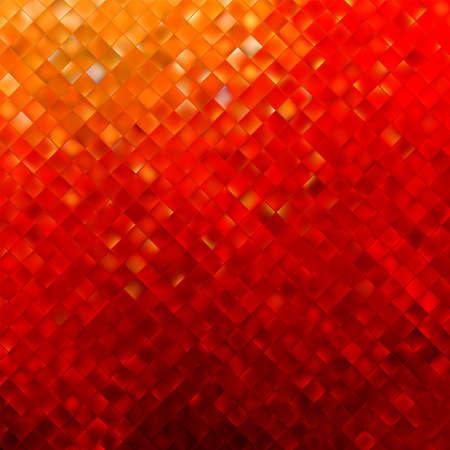 Modelo cuadrado en colores rojo y naranja.