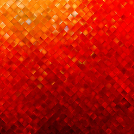 Square pattern in red and orange colors.