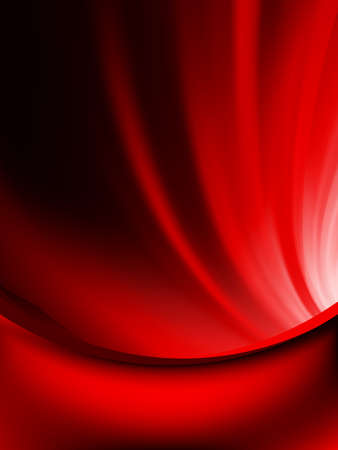 Red curtain fade to dark card.