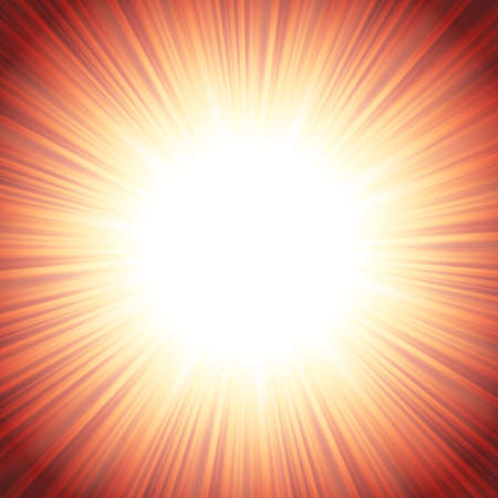 nova: Star burst red and yellow fire.  Illustration