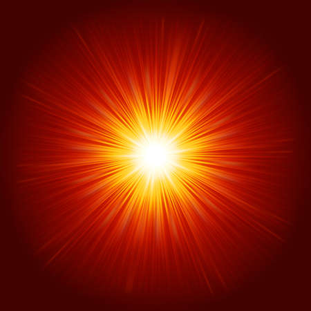 Star burst red and yellow fire. vector file included Stock Vector - 21082917