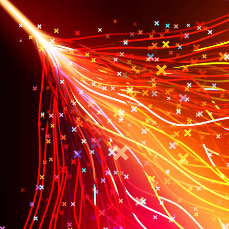 Futuristic abstract glowing background resembling motion blurred neon light curves. vector file included Vector
