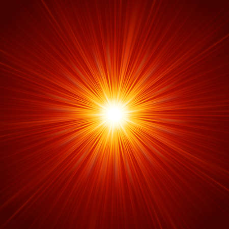 laser radiation: Star burst red and yellow fire. vector file included