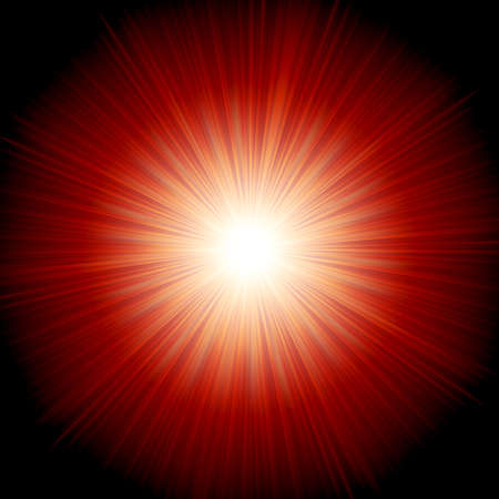 Star burst red and yellow fire. vector file included Vector