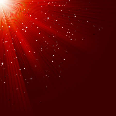 Great christmas texture with shining stars and rays.  vector file included Vector