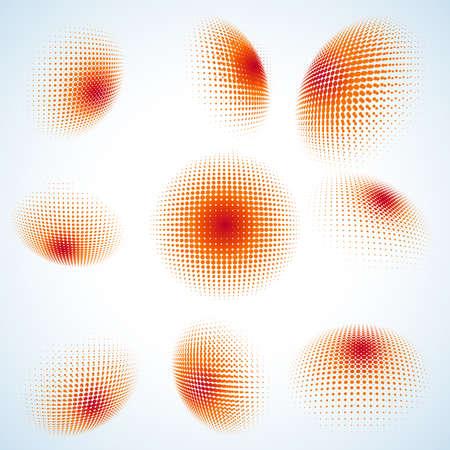 earth tone: Abstract halftone circle design.