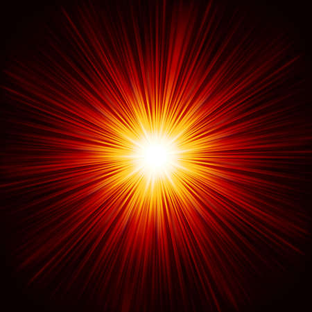 Star burst red and yellow fire. Vector