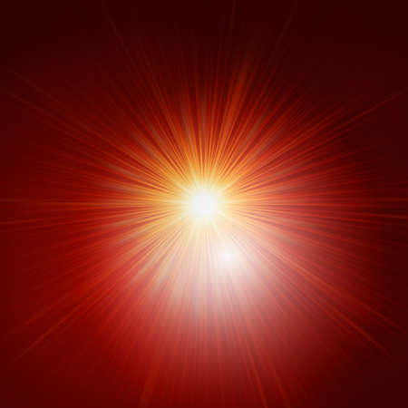 Star burst red and yellow fire. Stock Vector - 21316304