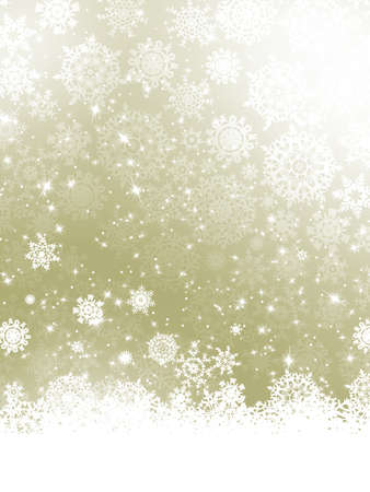 silver stars: Elegant Christmas background with snowflakes.