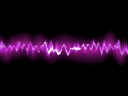 Abstract purple waveform.