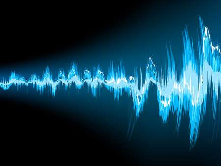 Schallwelle abstrakten Hintergrund. Vektorgrafik