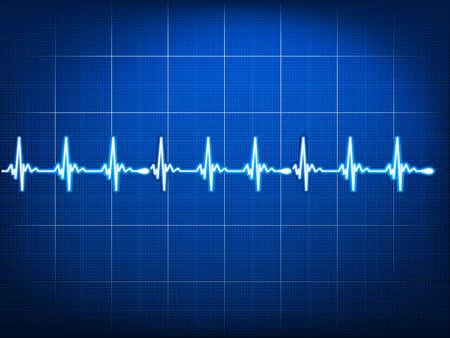 Abstract heart beats cardiogram.