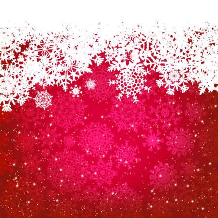 winter holiday: Bella rosso Cartolina di Natale felice, sfondo vacanze invernali