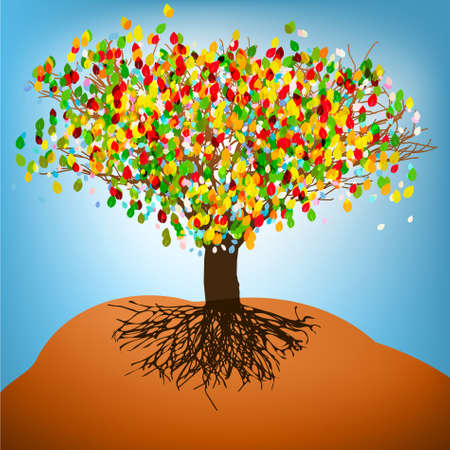 colorful tree: Abstract colorful tree  Illustration