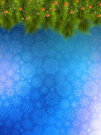 Christmas background with christmas tree. Vector