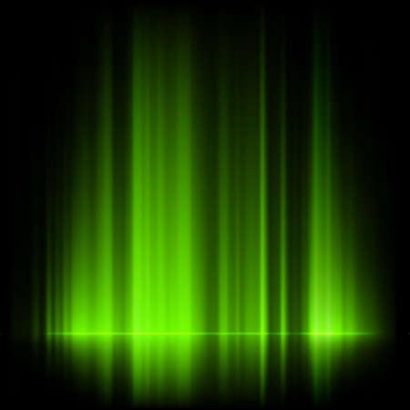 borealis: Green northern lights, aurora borealis.