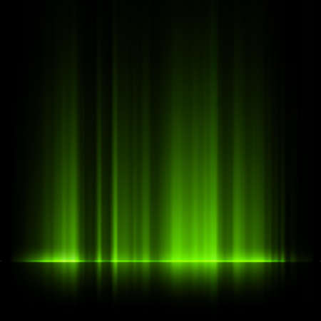 aurora borealis: Green northern lights, aurora borealis.