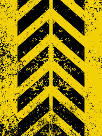 worn sign: Diagonal hazard stripes texture  These are weathered, worn and grunge-looking