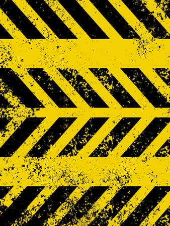 Diagonal hazard stripes texture  These are weathered, worn and grunge-looking  EPS 8 vector file included Vector