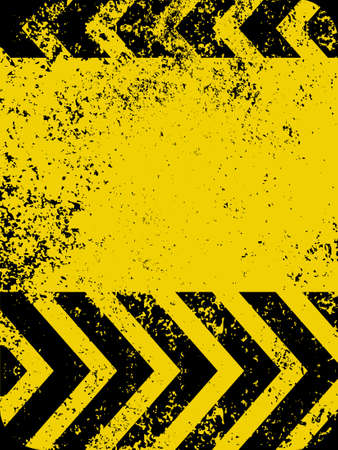 abstract danger: A grungy and worn hazard stripes texture   Illustration