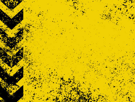 urban grunge: A grungy and worn hazard stripes texture   Illustration