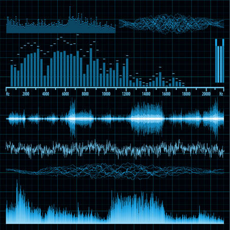 Sound waves set  Music background
