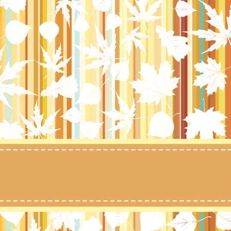 jachere: Retro pattern avec des feuilles d'automne Illustration