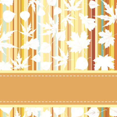 fallow: Retro pattern with autumn leafs
