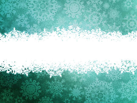 Winter background with many different falling stylish snowflakes.