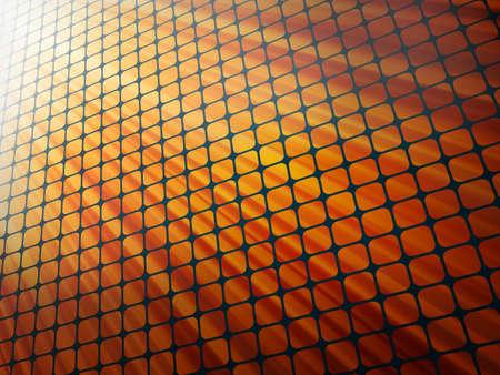 raggi di luce: Raggi rossi luce 3D mosaico. Vettoriali